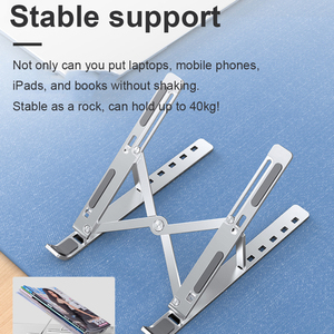 Image 4 - Portable Laptop Stand Base Support Notebook Stand For Macbook Computer Tablet Stand Adjustable Table Stand Laptop Holder Bracket