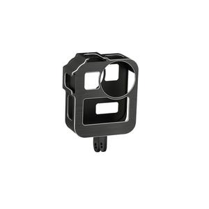 Image 5 - GoPro Max 360 액션 카메라 라이브 스트리밍 Vlog 부품 용 2 개의 콜드 슈 마운트가있는 알루미늄 합금 보호 케이지 표준 프레임