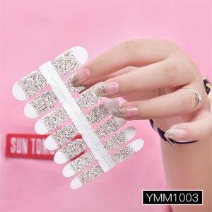 Image 4 - Poudre à paillettes, autocollant, couleur dégradée, enveloppe pour vernis à ongles, couverture complète, 29 couleurs, décoration, Nail Art, bricolage