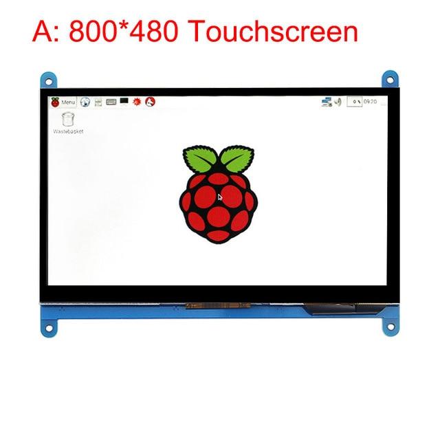 Monitor portátil de 5 pulgadas, pantalla táctil capacitiva LCD HDMI 800x480 para Raspberry Pi 4 3B +/ PC/Banana Pi para Windows 10 8