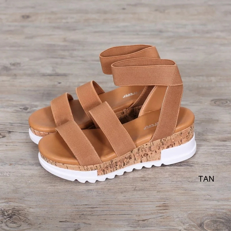 Jodimitty 2020 Fashion Women Serpentine Peep Toe Mid Heel Wedges Ankle Buckle Strap Sandalia Solid Platform Sandals Female Shoes