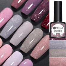 UR Gula 7.5 Ml Glitter Uv Gel Nail Polish Glitter Payet Rendam Off Uv Gel Varnish Warna-warni Kuku Gel Polandia DIY Kuku Seni Polandia(China)