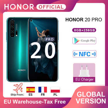 Globale Version EHRE 20 Pro Google Spielen Smartphone 6.26 8GB 256GB Kirin 980 Octa Core 48MP Kamera Mobile telefon Android NFC