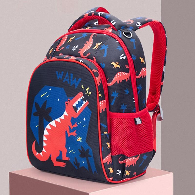 New School Backpack Boys Orthopedic School Bags 3D Cartoon Car Knapsack Children Backpack Primary School Kids Satchels