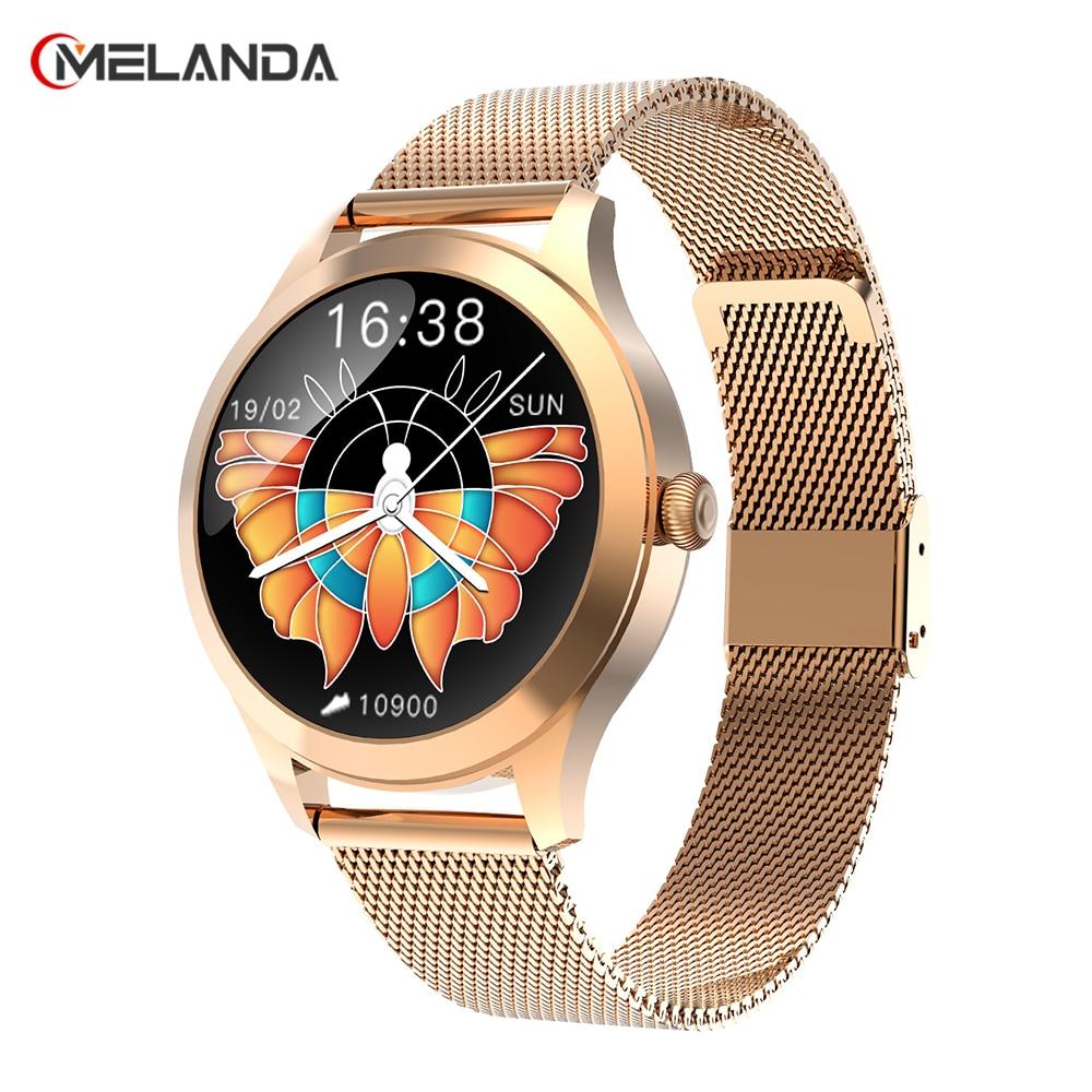 Водонепроницаемые Смарт-часы для женщин, спортивный фитнес-трекер с пульсометром, тонометром, кислородом, IP68, 2021