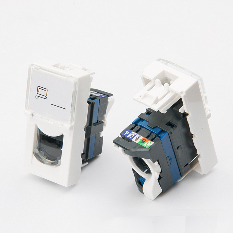 76561 Legrand type For Cat6 Keystone Jack Modular RJ45 Connector France jack(China)