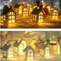 Árvore de natal 2 m 10 led bateria led casa estilo fada string luz casamento feriado natal guirlanda decoração
