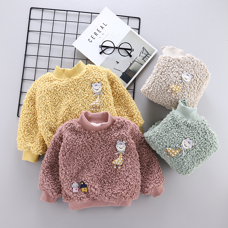 0-4 year winter boy girl clothing 2019 casual thicker warm cartoon cute kid suit children baby clothing hoodies sweatshirts coat title=