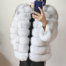 Women's Fur Real Natural Coat Jacket For Warm Winter Over Co