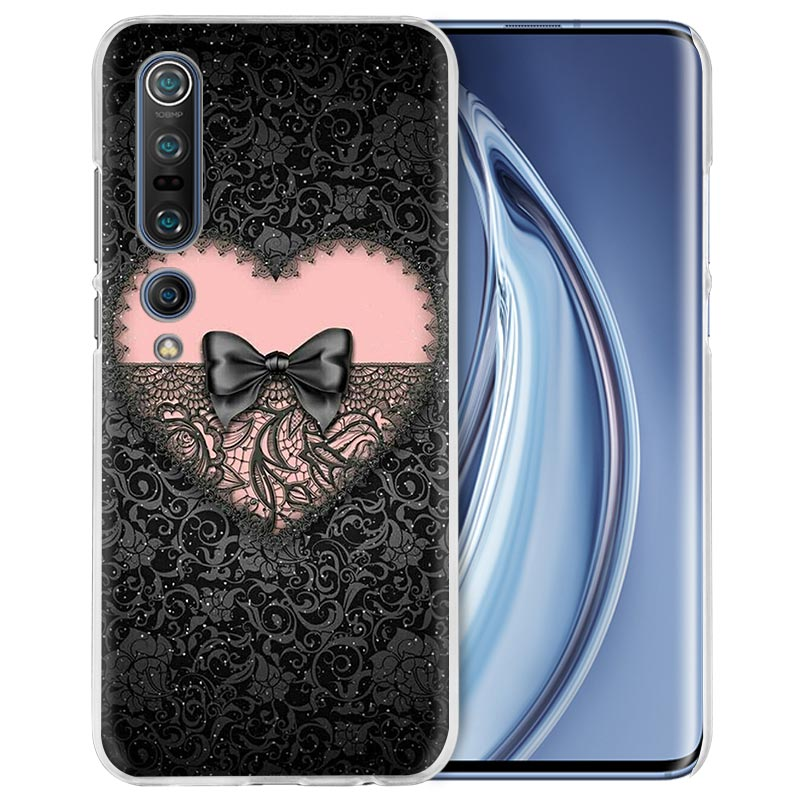 Lace And Heart Case For Xiaomi Mi Note 10 Pro 9T 9 CC9 A3 A2 8 Lite 6X 10Youth 5G Poco X2 F1 F2pro Hard Coque Fall