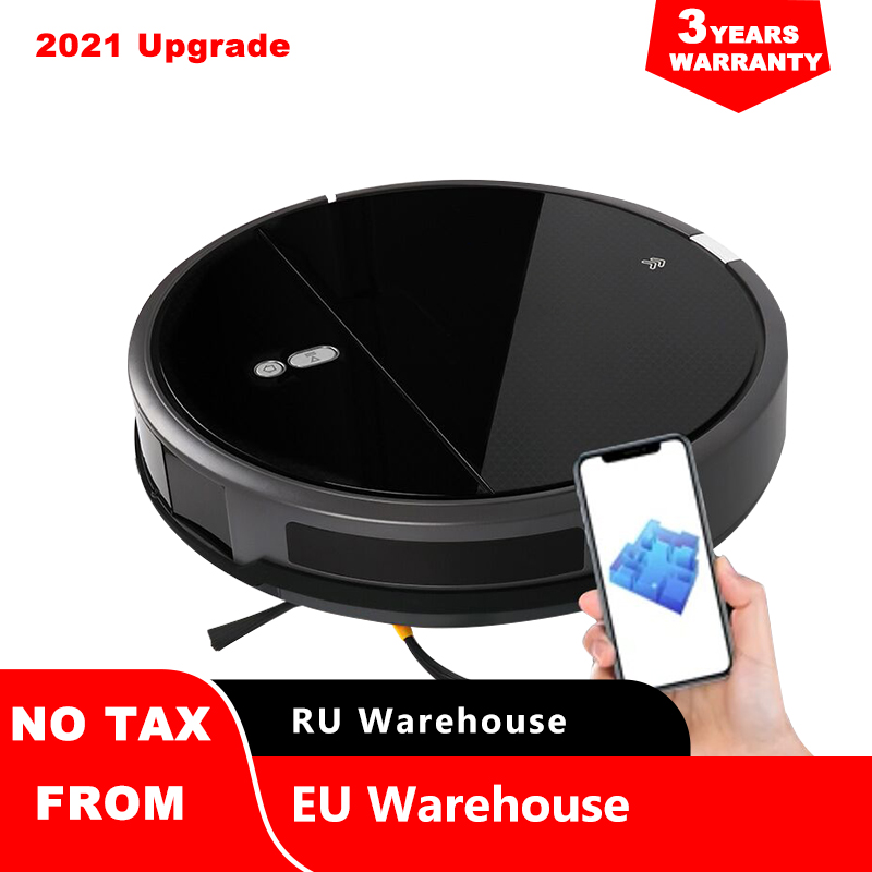 Robot Vacuum Cleaner Map Navigation,Wet Mopping,Disinfect,2200Pa Suction,Smart Memory ,WiFi App,Electric WaterTank