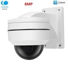 8MP Ptz Ip Camera Outdoor Waterdichte Video Surveillance Onvif 2.8-12Mm Lens Ir Nachtzicht Mini Dome Ip poe Camera