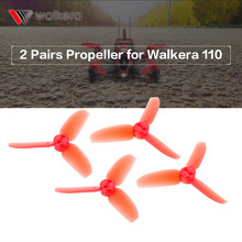 2 Pairs Original RC Part for Walkera Rodeo 110-Z-01 3-Blade Propeller CW / CCW f