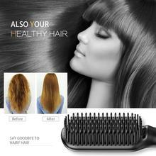 Beard Straightening Brush Hair Straightener Comb 2 in 1 Fast Heating Straightening Comb Temperature Lock & Auto-Off Function