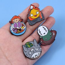 Kawaii Anime Spirited Away Geen Gezicht man Broche Ponyo on The Cliff Kids Cosplay Gift(China)