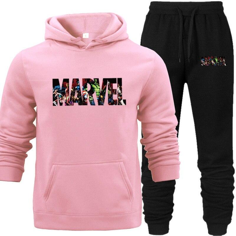 Unisex Pullover Hoodies Tracksuit Sweatshirt Marvel Heroes Characters Printed Hip Hop Oversize Girls Street Hood Hoodies Pocket