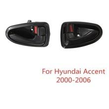 Manija para puerta derecha Interior y trasera, manija para puerta derecha, para Hyundai Accent 2000, 2001, 2002, 2003, 2004, 2005, 2006