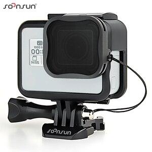 Image 1 - حافظة إطار حماية قياسية من SOONSUN مزودة بمرشح عدسات ND8 لكاميرا GoPro Hero 5/6/7 باللون الأسود ملحقات 7 Pro