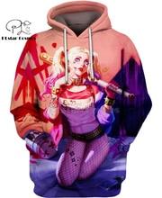 PLstar Cosmos DC Harley Quinn anime Super Attack Speed 3d hoodies/shirt/Sweatshirt Winter autumn funny Harajuku streetwear-3