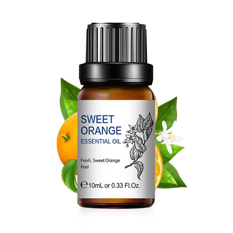 Vanilla Orange Essential Oils 10ML Diffuser Aroma Oil Bergamot Vetiver Tea Tree Rosemary Chamomile Eucalyptus Lemongrass