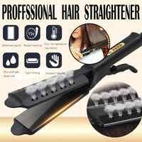 Plancha de pelo cuatro-Equipo de cerámica turmalina iónica plancha de pelo para las mujeres alisadoras de cabello para mujer #40