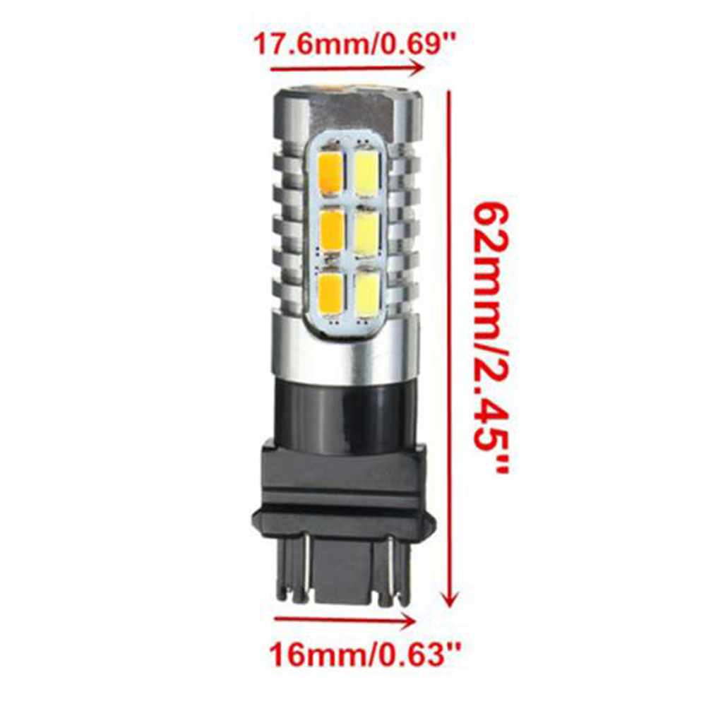 2pcs Switchback 3157 20-SMD Dual Color 5730 LED Bulbs Front Turn Signal lights