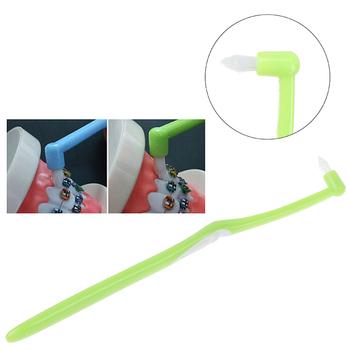 1 szt L kształt czyściki Floss szczoteczka międzyzębowa miękkie włosie aparaty ortodontyczne czyszczenie szczoteczka do zębów szczoteczka do zębów tanie i dobre opinie Jiauting CN (pochodzenie) dla dorosłych
