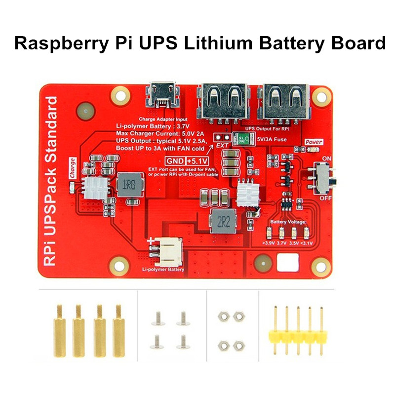 High Quality Charger Shield Battery Expansion Board Raspberry Pi UPS Lithium Battery Board For Raspberry Pi 3B+/3B/ 4B