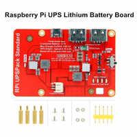 Placa de expansión de batería para Raspberry Pi UPS, placa de batería de litio para Raspberry Pi 3B +/3B/ 4B