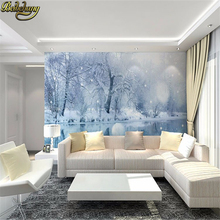 nature scenery landscape forest snow view papel de parede 3d large photo wall paper murals mural wallpaper for walls 3 d tapety 3d wall mural wall paper natural scenery peaceful night forest moon custom 3d room landscape photo wallpaper window view bedroom