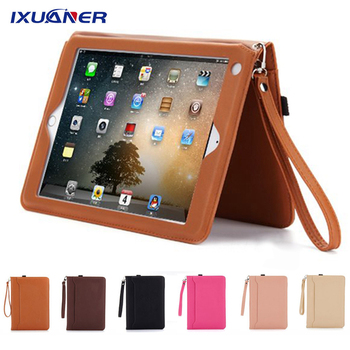 For IPad 2018 Case with Hand Holder Full Protection Smart Cover for Ipad 9.7 2017 Strip Air 1 2 Fundas