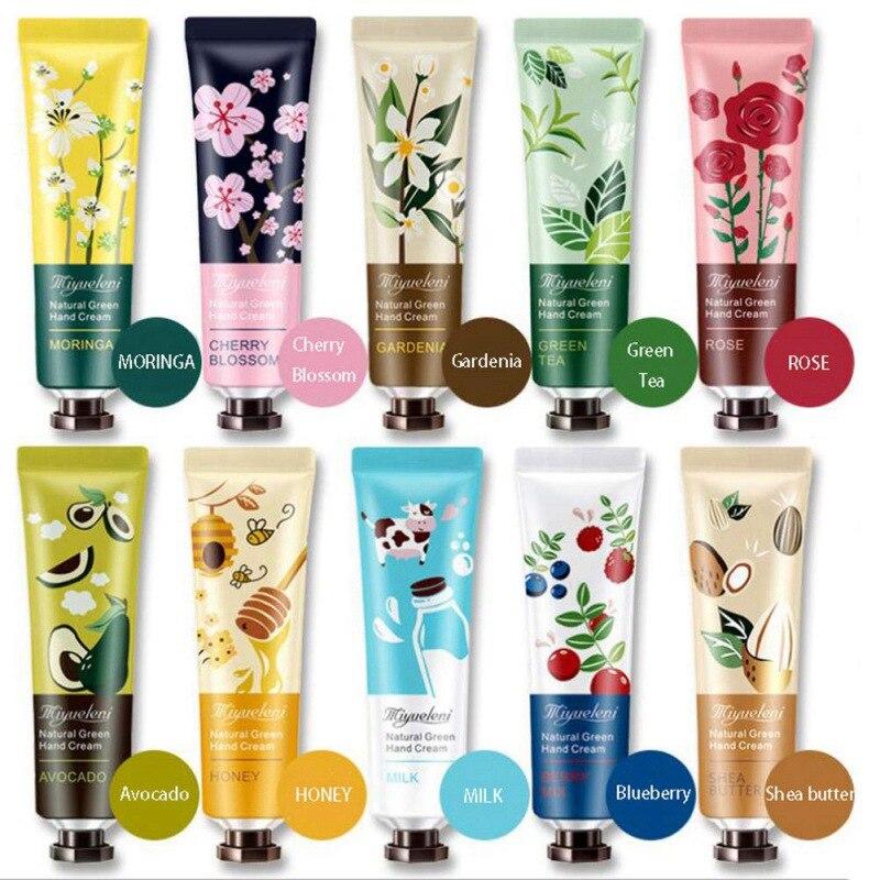 Plant Essence Hand Cream Moisturizing Exfoliation Smooth Fine Lines Brighten Skin Color Skin Care Product 1pc