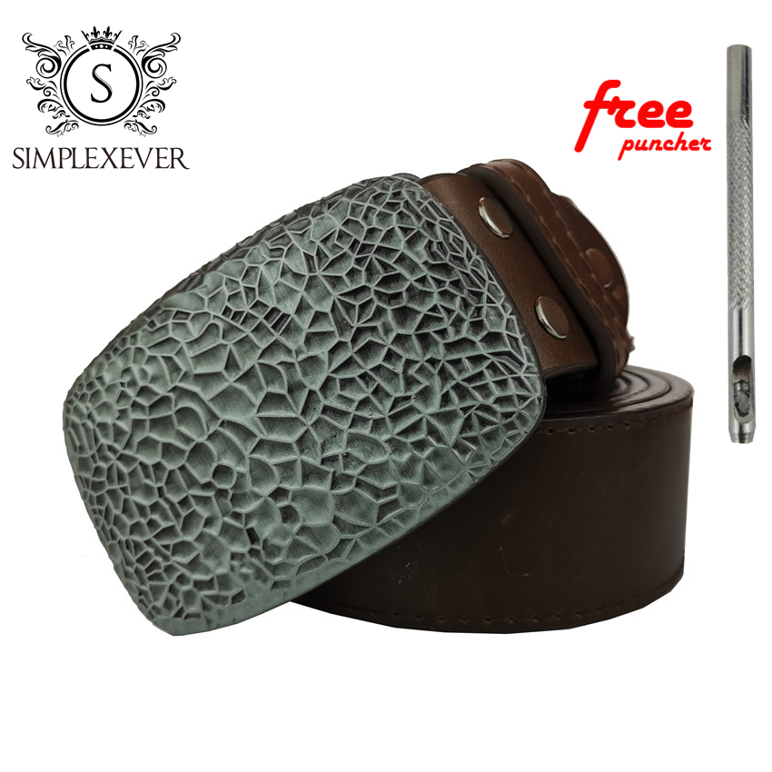 Rectangle Solid Silver Belt Buckles Blank DIY Leather Craft for Men's Buckle Belt Clips Punk Jeans Accessories