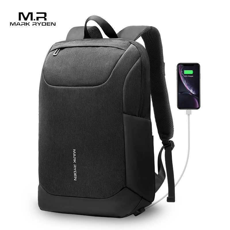 Mark Ryden 2020 Neue USB Freies Lade Männer Rucksack 15,6 Zoll Laptop Tasche Zwei Seite Tasche Wasserdicht Männer Rucksack