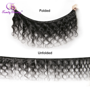 Image 2 - Brazilian Body Wave Human Hair 3/4 Bundles With 4x4 Lace Closure Middle/Free/Three  Non Remy Free Shipping Trendy Beauty Hair