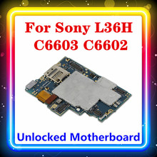 For Sony Xperia Z L36h C6602 C6603 Motherboard,Original  for Sony Xperia Z L36h Mainboard with Chips Android Install