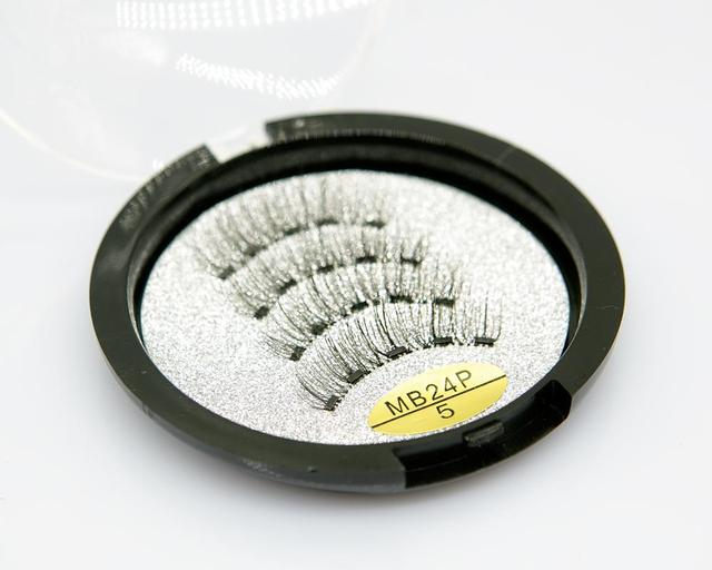 MB Magnetic Eyelashes with 5 Magnets Handmade Reusable 3D Mink False Eyelashes for Makeup faux cils magnetique naturel Tweezers 3
