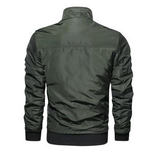 Image 2 - LBL Autumn Military Bomber Jacket Men Slim Fit 2020 Winter Casual Mens Jacket Solid Outwear Zipper Coat Man Tracksuit Windproof