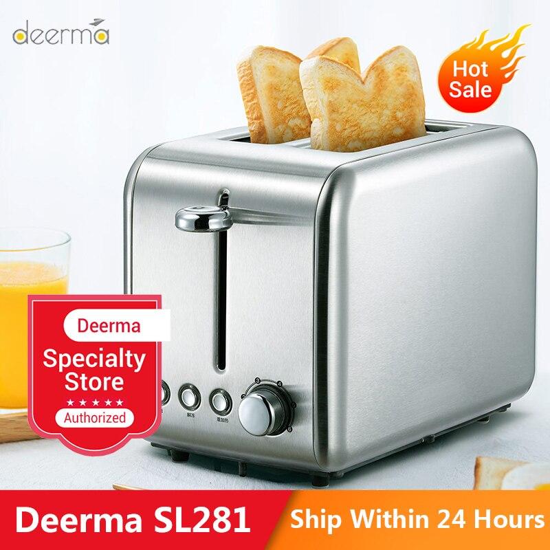 Deerma DEM - SL281 Bread Baking Machine Electric Toaster Household Automatic Breakfast Maker Kitchen