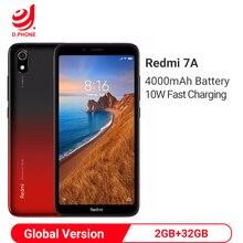 """Xiaomi Redmi 7A 2GB 32GB الهاتف الذكي """"أنف العجل 439 الثماني النواة 4000mAh بطارية 12MP كاميرا العالمية نسخة 4G الهاتف المح"""