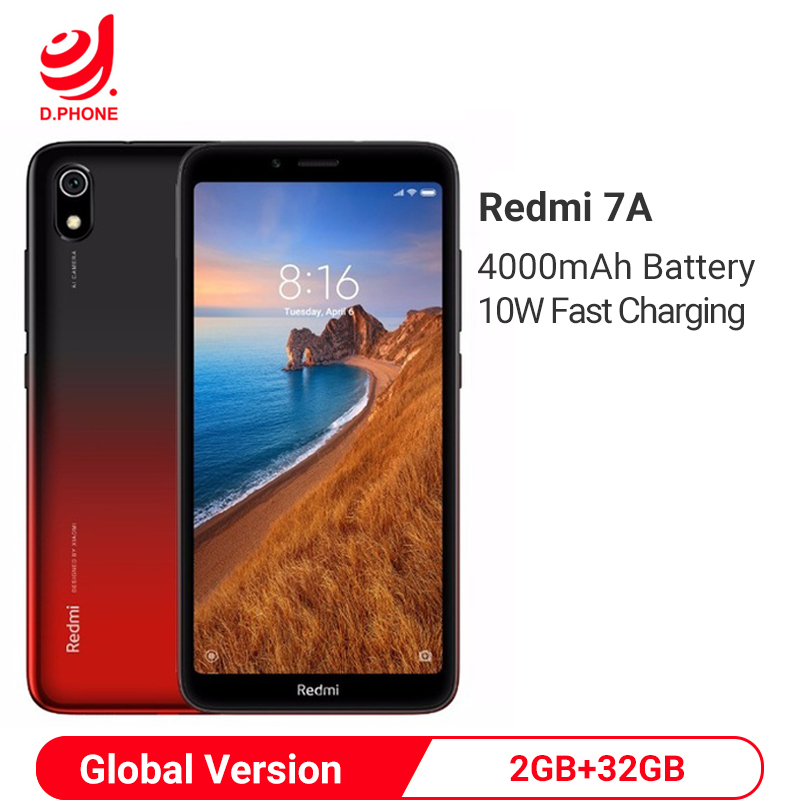"Xiaomi Redmi 7A 2GB 32GB Smartphone 5,45 ""Snapdragon 439 Octa Core 4000mAh Batterie 12MP Kamera Globale version 4G Handy"