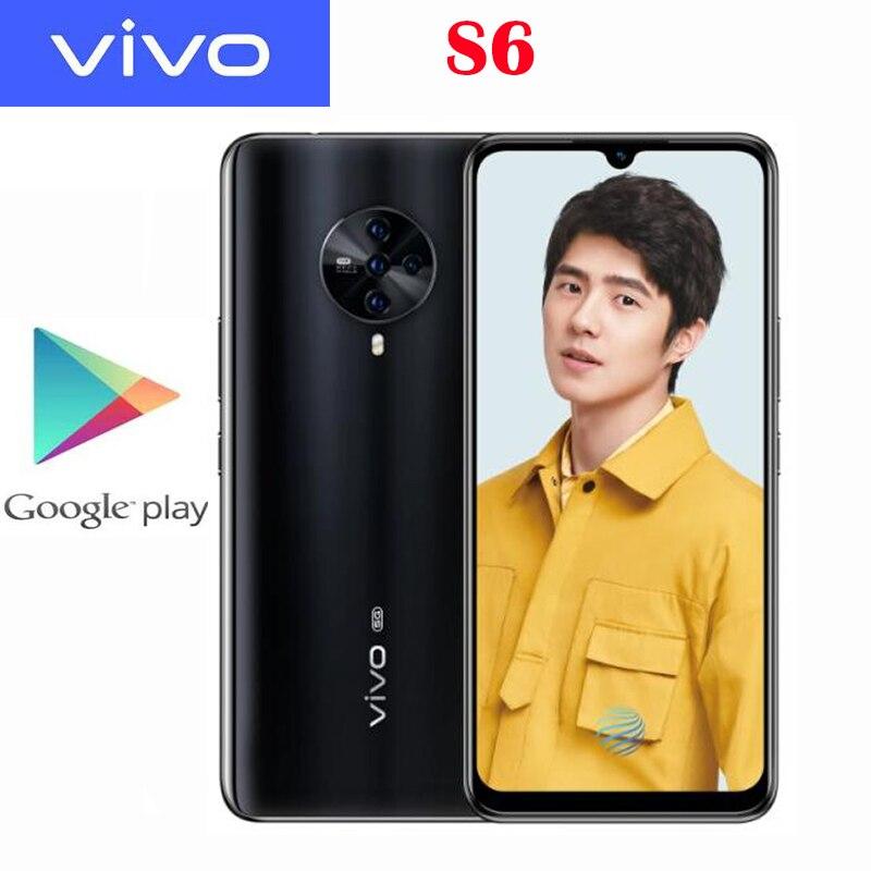 Оригинальный официальный сотовый телефон Vivo S6, 8 ГБ ОЗУ 128 Гб ПЗУ, Exynos 980, 6,44 дюйма, 4500 мАч, 48 МП, 4 задние камеры, Android 10, зарядное устройство 18 Вт