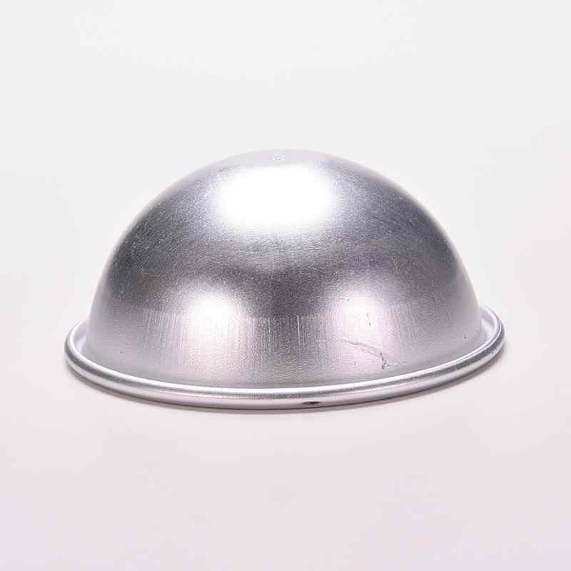 1 pieza de moda 3D molde de pastelería Bola de aleación de aluminio esfera baño bomba molde para hornear DIY moldes de Chocolate 6,5 cm de diámetro