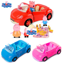 Peppa Pig toys PVC Action Figures Family friends car Toys Doll Model new year pig toy peppa pig toys doll train car house scene building blocks action figures toys early learning educational toys birthday gift