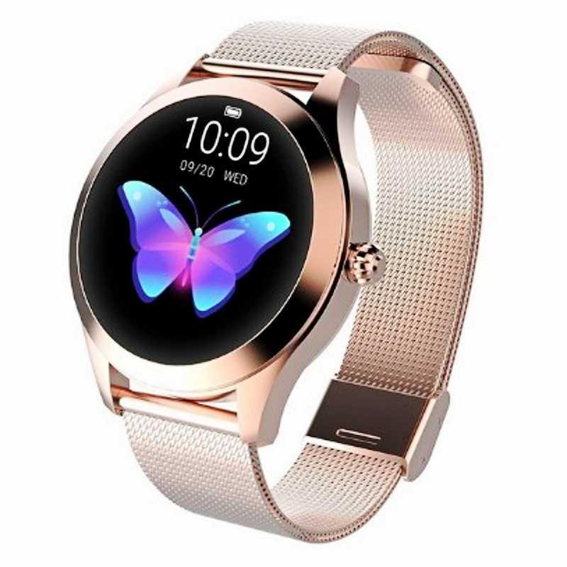 KW10 IP68 wodoodporna smart watch kobiety piękny bransoletka tętno monitora snu monitorowania Smartwatch podłączyć system IOS, jak i Android