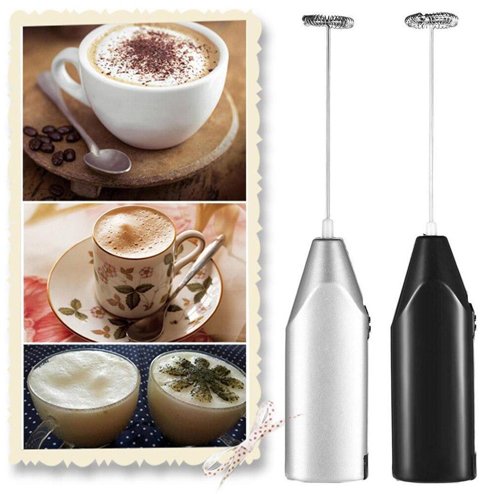 Elektrikli süt köpürtücü mutfak içecek Foamer çırpma karıştırıcı karıştırıcı kahve Cappuccino kreması çırpma köpüklü karışımı bıyık yumurta çırpıcı