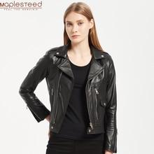MAPLESTEED frauen Leder Jacke Weiche 100% Natürliche Schaffell Jacken Weiblichen Echte Haut Mantel Damen Kleidung Asiatische Größe M117