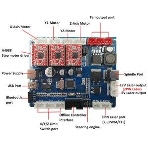 Image 5 - Mini Laser CNC Khắc CNC 3018 Laser Khắc Dụng Cụ Cắt GRBL 10W Cắt Laser Gỗ Router CNC3018 2in1 chạm Khắc