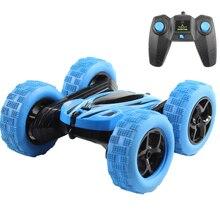 Hugine RC araba 2.4G 4CH dublör sürüklenme deformasyon Buggy araba kaya paletli rulo araba 360 derece çevirmek çocuklar Robot RC oyuncak arabalar hediyeler için