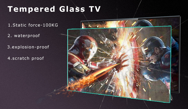 Free shipping-big 100 inch flat explosion-proof screen Ultra HD android tv led television 4k smart tv with bluetooth